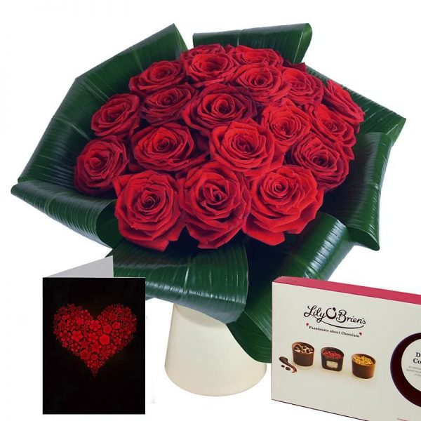 Love - 20 Red Roses Gift Set